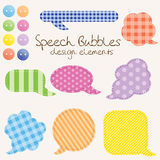 Set of different speech bubbles Royalty Free Stock Photos