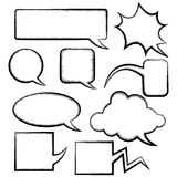 Set of different speech bubbles Royalty Free Stock Images