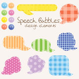 Set of different speech bubbles,  design elements Royalty Free Stock Photo