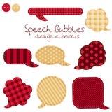 Set of different speech bubbles,  design elements Stock Images