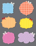 Set of different speech bubbles, design elements Royalty Free Stock Photography