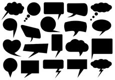 Set of different speech bubbles. Isolated on white Stock Images