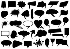 Set Of Different Speech Bubbles Royalty Free Stock Photography