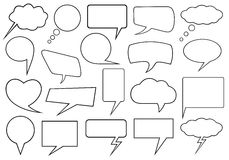 Set of different speech bubbles Stock Photography
