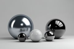 Set of different spheres Royalty Free Stock Photography