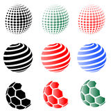 Set of Different Spheres Royalty Free Stock Images