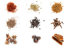 Set of different spices Stock Photos