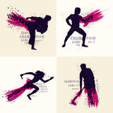 Set of different Sports players in action. Royalty Free Stock Images
