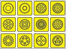 Sprocket wheel icons Royalty Free Stock Image