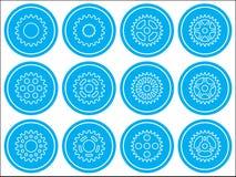 Sprocket wheel icons Royalty Free Stock Photography