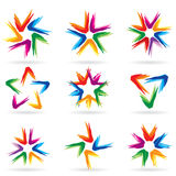 Set of different stars icons #11 Royalty Free Stock Photography