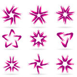 Set of different stars icons #12. Set of different stars icons for your design. White releases #12 Royalty Free Stock Image