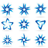 Set of different stars icons #13. Set of different stars icons for your design. White releases #13 Stock Images