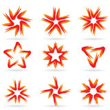 Set of different stars icons #15 Royalty Free Stock Photography