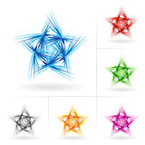 Set of different stars icons Stock Photography