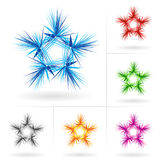 Set of different stars icons Royalty Free Stock Photography