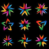 Set of different stars icons #5 Stock Image