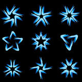 Set of different stars icons #6 Stock Image