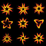 Set of different stars icons #9 Stock Photos