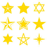 Set of different stars on a white background. Vector illustration. Set  of different stars on a white background. Vector illustration Royalty Free Stock Images