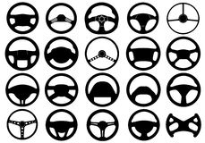 Set Of Different Steering Wheels Stock Photo