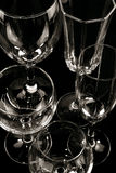 Mixed wine glasses Stock Images