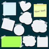 Set of different stickers with scotch tape. Epa 10 Royalty Free Stock Photography