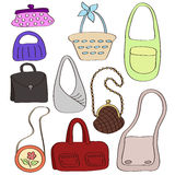 Set of different stylish bags. Stock Photo