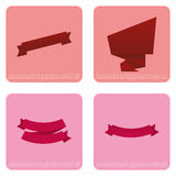 Set Of Different Stylish Ribbons Isolated On Color Background Royalty Free Stock Photography