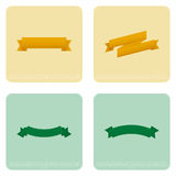 Set Of Different Stylish Ribbons Isolated On Color Background Stock Photography