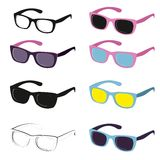Set of different sun glasses. Stock Photo