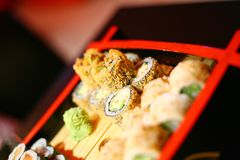 Set of different sushi Royalty Free Stock Photo