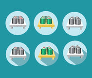 Set different sushi icon Royalty Free Stock Photography