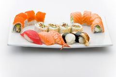 Set of different sushi and maky types Royalty Free Stock Image
