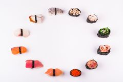 Set of different sushi Royalty Free Stock Photography