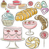 Set of different sweetmeats Royalty Free Stock Image