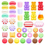 Set of different sweets. Assorted candies Stock Photo