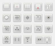 Set of Different Switches Vector Illustration Royalty Free Stock Photography