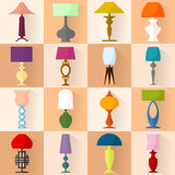Set of different table lamps Royalty Free Stock Photography