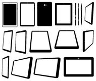 Set of different tablets computer. Isolated on white Stock Photo