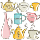 Set of different  tableware Royalty Free Stock Images