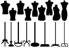 Set Of Different Tailors Mannequin Royalty Free Stock Image
