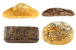 Set different tasty bread Royalty Free Stock Images