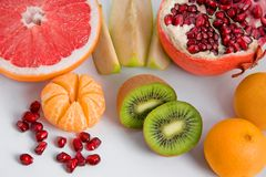 Set of different tasty fruits Royalty Free Stock Photography