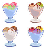 Set of different tasty ice cream. In ice-cream bowls Royalty Free Stock Photography