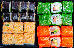 Set of different tasty sushi Royalty Free Stock Image