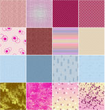 Set of different textures Stock Images