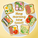 Set different toast Royalty Free Stock Image