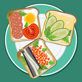 Set different toast Royalty Free Stock Photography