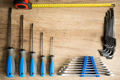 Set of different tools Stock Photo